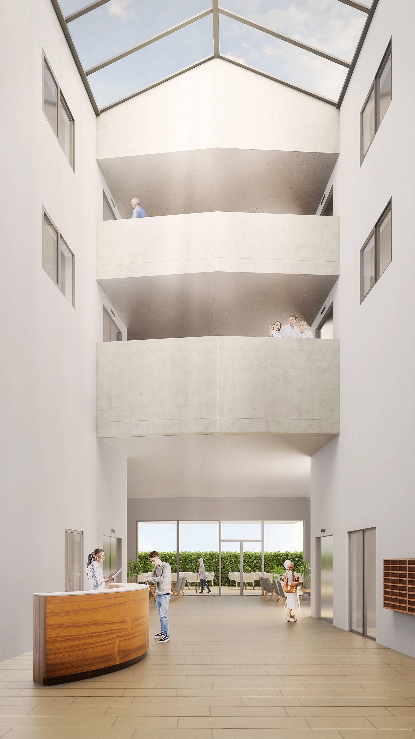 Concours établissement médicosocial à Bussigny - Mia Schlegel Architecture - construction, rénovation, qualité de l'air intérieur, Yverdon